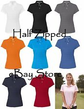 Adidas Golf Ladies ClimaLite Textured Short Sleeve Polo Shirt A162 S-2XL