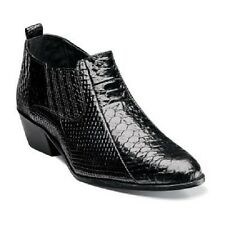 STACY ADAMS Mens Shoes Sunset Anaconda Print Ankle Boot  Black Leather 24819