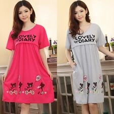 Pregnant Women Cute Bear Lactation Nursing Clothes Maternity Dresses
