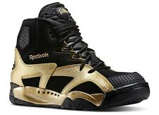 Reebok OXT Pump Mid Fashion Basketball Sneakers Black Gold New Mens Sizes 8-13