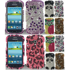 Protector Design BLING Hard Cover Case Phone For SAMSUNG GALAXY AMP i407