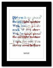 THE ROLLING STONES Midnight Rambler ❤ song lyrics typography poster art print