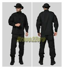 BLACK SAS SWAT BDU Military Combat Airsoft Paintball Uniform Shirt Pants LARGE