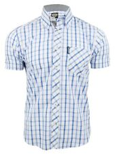 Mens Shirt By Lambretta Classic Check Short Sleeved Button Down