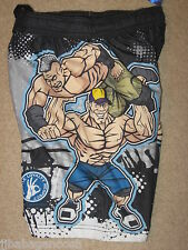 WWE John Cena movie Cartoon New BOYS BATHING Suit Swimming Trunks Board SHORTS