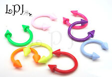 Neon Horseshoe Cone Spike Hoop Ring Lip Nose Ear Tragus Body Piercing 16g