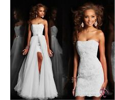 Sweetheart Sleeveless 2 in1 Party Gown Homecoming Prom Ball Formal Evening Dress
