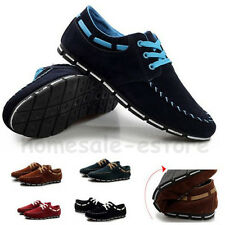 NEW Men's Lace Up Sneakers Casual Suede Loafer Driving Moccasins Slip On Shoes