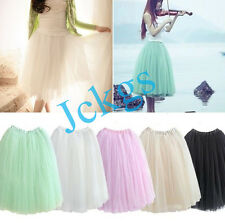 Elegant women 5 Layers Tutu Princess Skirt Petticoat Knee-Length Mini Dress