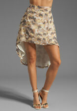 New Winter Kate Peony Butterfly Skirt 100% Silk by Nicole Richie Med Retail $195