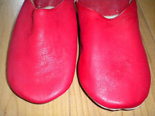 FAIR TRADE MOROCCO MOROCCAN LEATHER SLIPPERS BABOUCHE LOAFERS 6 COLOURS & SIZES