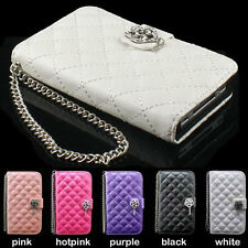 wholesale MAGNETIC BLING DIAMOND WALLET CARD LEATHER FLIP CASE COVER FOR samsung