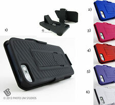 for Apple IPhone 5 5s SE +PryTool Belt Clip Holster Rear Case Cover Combo stand
