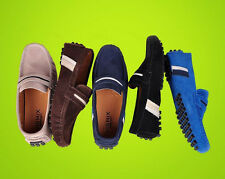 fashion Mens casual Moccasin Loafer slip on suede leather boat Driving Shoes