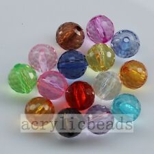 6-20MM Clear Colors Acrylic Ball Round Jewelry Spacer Beads Charm Free Shipping