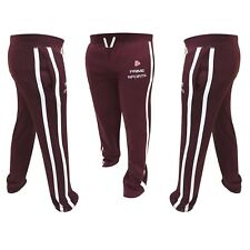 Mens Jogging Pants Cotton Jogger Fleece Trouser Tracksuit Boxing Bottom Burgundy