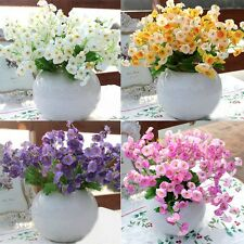 Beautiful Home Decor Campanula Artificial Silk Flower Leaf Wedding Party Bouquet