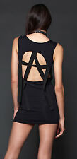 Lip Service Punk Goth Visual Kei Black Anarchy D-Ring Halter Dress