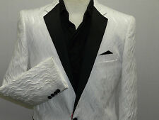 Mens MANZINI Formal Dinner Jacket Entertainer Performer Stage Club mzs143 White