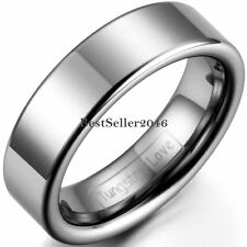 6mm Polished Flat Tungsten Carbide Ring Ladies Womens Engagement Wedding Band