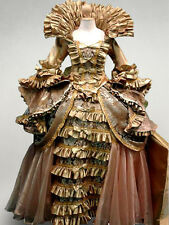 Queen Fairy Tale Elegant Ruffle Dress Evening Gown French Renaissance Costume