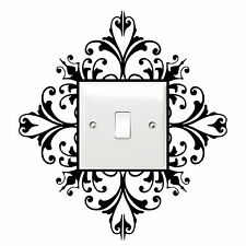 Light Switch Decal Sticker - Wall Art Scroll Damask Pretty Gift House Home NEW