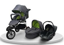 Baby Boom 3-in-1 Pram Carrycot Infant Carrier Car Seat Travel System (6 Colors)