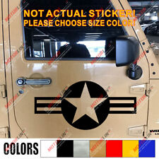 USAF Vet Star US Air Force Military Car SUV Decal Sticker For Jeep etc optional