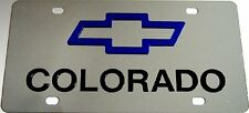 Chevrolet License Plate Tag - Stainless w/color mirror acrylic - Select model