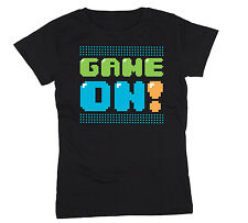 Game On Arcade Video Game 8 Bit Gamer Arcade 80's Party Swag Retro Womens Shirt