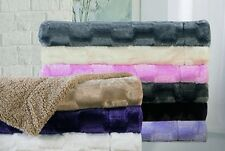 Super Soft Throw Blanket - High End Reversible Faux Fur Luxury! All colors !!!!