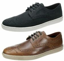 Mens Red tape Girvan Brown Navy lace up leather brogue trainer pump shoes