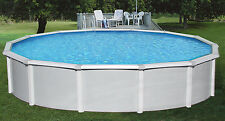 """NEW 8"""" Steel Above Ground Swimming Pool with 52"""" Depth - Round and Oval Sizes"""