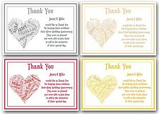 Personalised Silver / Pearl / Ruby / Golden Wedding Thank You Cards