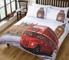 Parure de couette London Bus Simple Double ou King disp