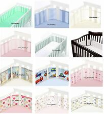 New Breathable Baby airflow mesh cot cotbed bumper 4 side all designs