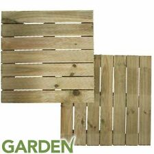 Garden Wooden Decking (Pair of Tiles)  Garden  Patio Fencing Fence Panels