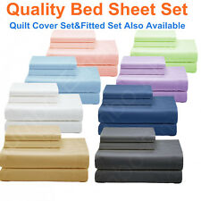 NEW SINGLE,KS,DOUBLE,QUEEN&KING BED SHEET Set/FITTED SHEET Set/QUILT COVER Set