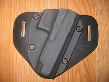 Glock OWB Kydex/Leather Hybrid Holster with adjustable retention
