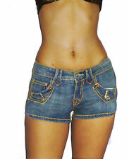 Hot New Women's Ladies Girls Summer Blue Denim Jean Shorts Hot Pants Cut Offs