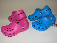 New Crocs Classic Clog Shoes Kids Boys Girls Size C 10/11 Blue Pink