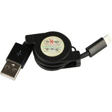 BLACK RETRACTABLE USB CABLE DATA SYNC CORD CHARGING POWER WIRE for iPhone iPad