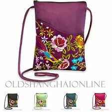 Floral Wallet Purse Coin Cell Phone Case Mobile Bag Crossbody Pouch (BACS118-PY)