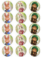PETER RABBIT  EDIBLE WAFER PAPER TOPPERS CUPCAKES CAKE POPS FAIRY BUNS MUFFINS