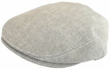 Headchange 4011 Made in USA 100% Linen Ivy Scally Cap Driving Hat Flat Newsboy