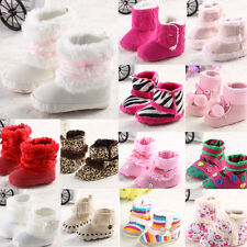 Cute Baby Infant Toddler Winter Warm Toddler Prewalker Anti-slip Sole Boot Shoes