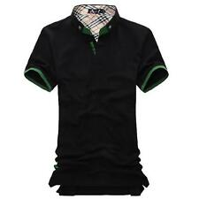 New Classic Men's POLO Shirt Solid Color T-shirt Casual Sports Short Sleeve Tops