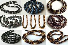 "ETHNIC INSPIRED TRIBAL MENS GIFT 20-40"" MADE TO ORDER BEADED CHAIN NECKLACE GIFT"