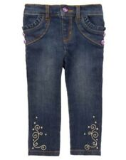 GYMBOREE WINTER PEACOCK DENIM PEACOCK SKINNY JEANS PANTS 6 12 18 NWT