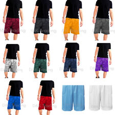 Men's Mesh Jersey Athletic Fitness Workout Colors Shorts 2 Pockets Size:S-5XL